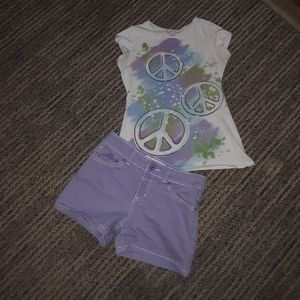 Flash sale $9.   GIRLS 10/12 SUMMER OUTFIT